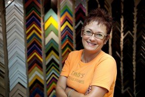 Owner of TMB Frames Marybeth has owned the store for over 20 years